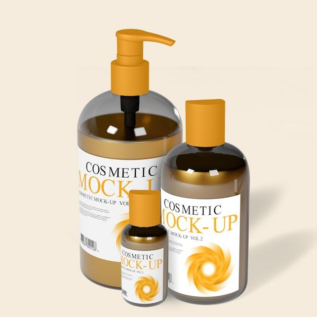Maquette de bouteilles de distributeur de cosmétiques PSD Premium