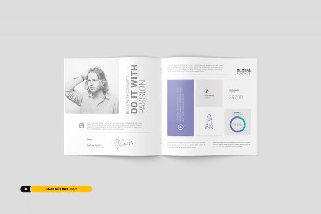 Maquette de brochure carrée PSD Premium