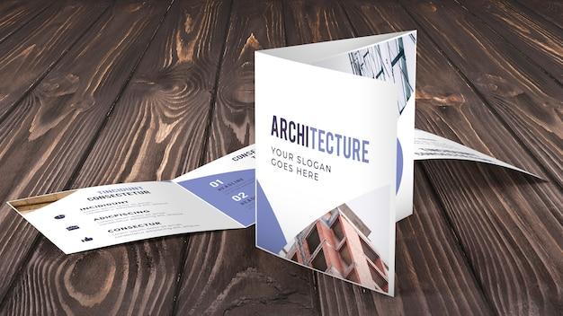 Maquette de brochure commerciale à trois volets Psd gratuit