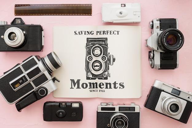 Maquette de brochure avec le concept de la photographie Psd gratuit