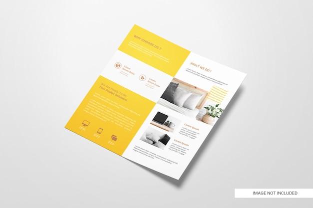 Maquette De Brochure Dépliant à Deux Volets PSD Premium