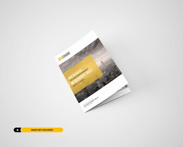 Maquette de brochure à deux volets a5 / a5 PSD Premium