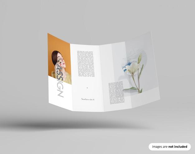 Maquette De Brochure Double Gatefold PSD Premium