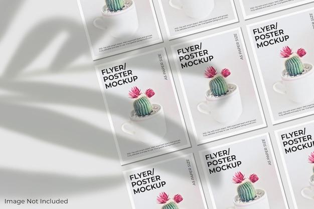 Maquette De Brochure Flyer Réaliste Avec Superposition D'ombre PSD Premium