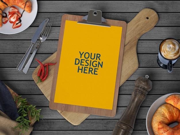 Maquette De Brochure De Menu PSD Premium
