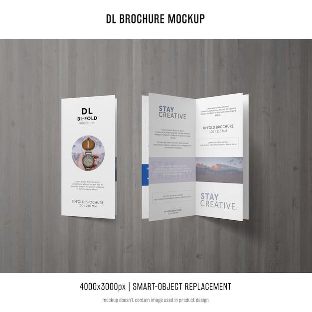 Maquette de la brochure portrait dl Psd gratuit