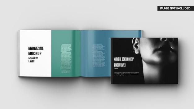 Maquette De Brochure De Reliure Parfaite A4 Paysage PSD Premium