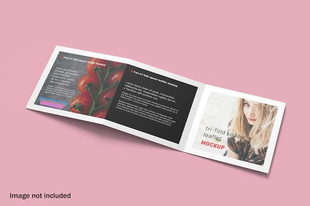 Maquette De Brochure à Trois Volets Carré Moderne PSD Premium