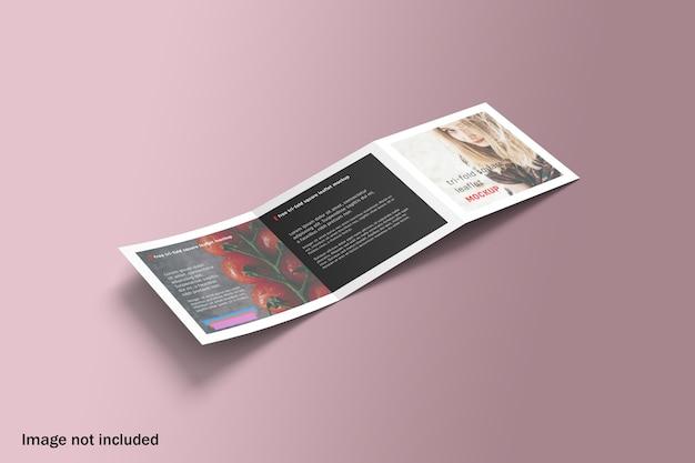 Maquette De Brochure à Trois Volets Carrée Réaliste PSD Premium