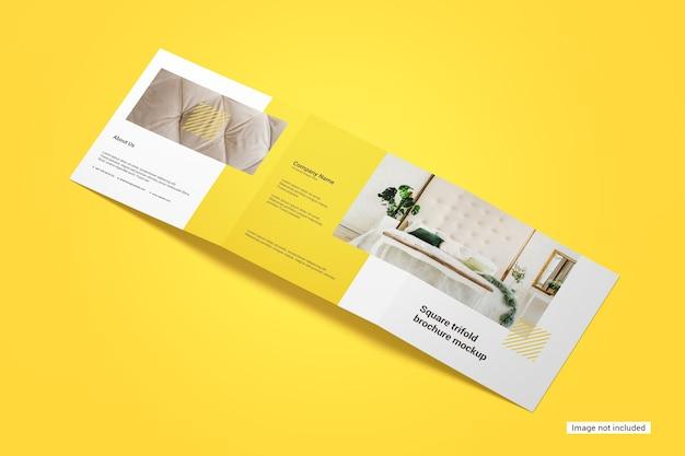 Maquette De Brochure à Trois Volets Carrée PSD Premium