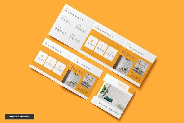 Maquette De Brochure à Trois Volets Carrés PSD Premium