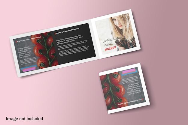 Maquette De Brochure à Trois Volets Double Carré PSD Premium