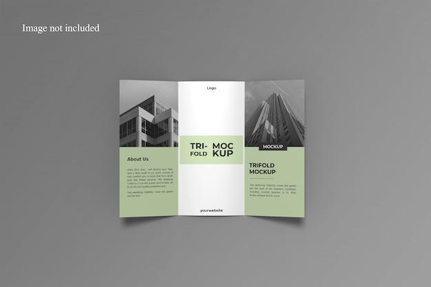 Maquette De Brochure à Trois Volets Ouverte PSD Premium