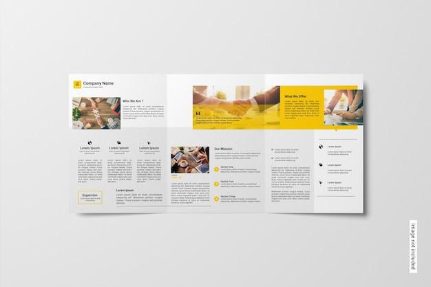 Maquette De Brochure à Trois Volets PSD Premium