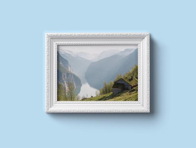 Maquette de cadre blanc PSD Premium