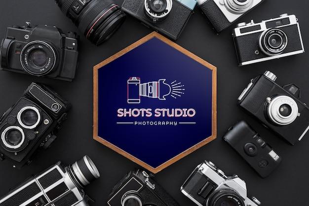 Maquette De Cadre Avec Le Concept De La Photographie Psd gratuit