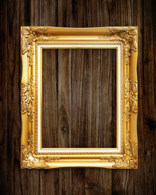 Maquette cadre photo doré PSD Premium