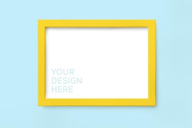 Maquette cadre photo jaune PSD Premium