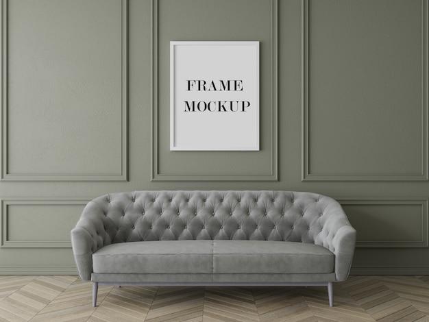 Maquette De Cadre De Salon De Luxe Avec Meubles PSD Premium