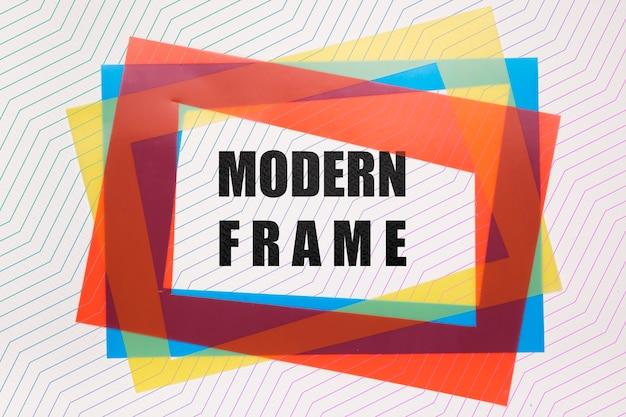 Maquette De Cadres Modernes Colorés Psd gratuit