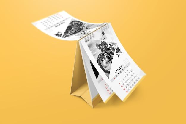 Maquette de calendrier créatif PSD Premium