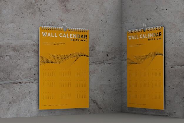 Maquette De Calendrier Mural Vertical Psd gratuit