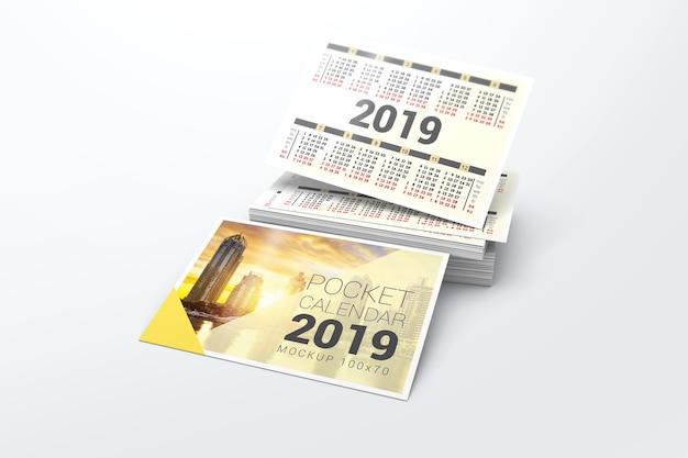 Calendrier De Poche 2019.Maquette De Calendrier De Poche 2019 Telecharger Psd Premium