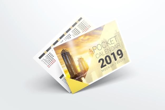 Maquette De Calendrier De Poche 2019 PSD Premium