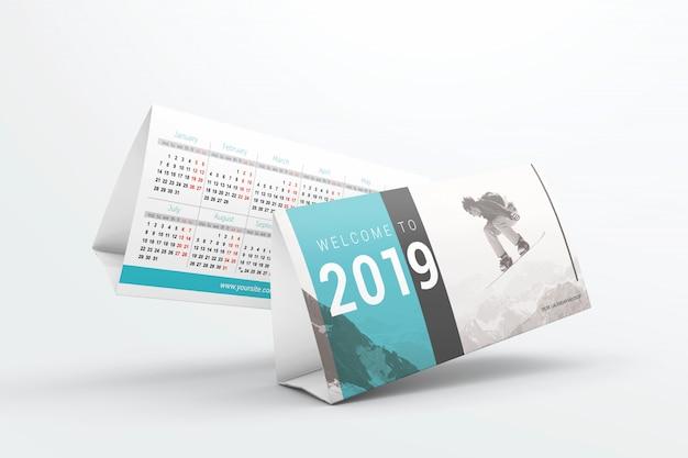 Maquette de calendriers de bureau volant PSD Premium