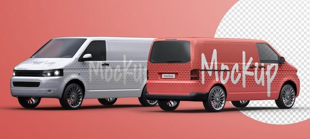 Maquette De Camion De Livraison De Véhicule Utilitaire Isolé PSD Premium