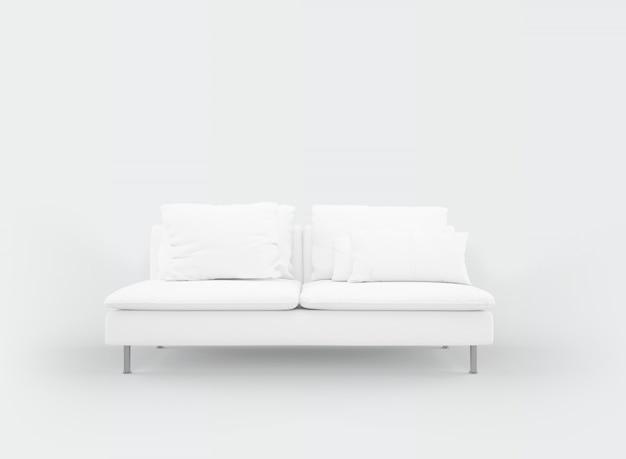Maquette De Canapé Blanc Réaliste Psd gratuit