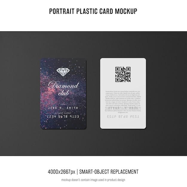 Maquette de carte plastique portrait Psd gratuit