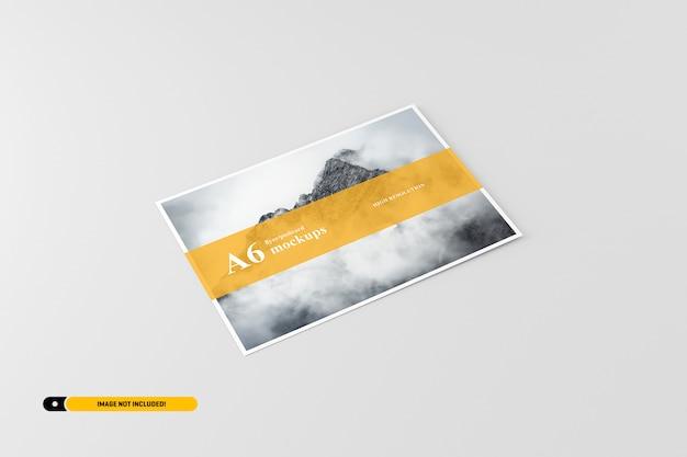 Maquette carte postale / dépliant a6 PSD Premium