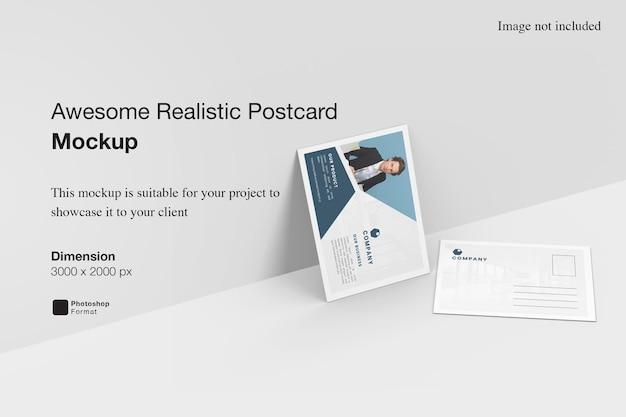 Maquette De Carte Postale Réaliste Impressionnante PSD Premium