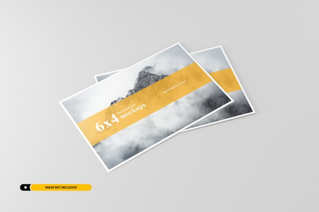 Maquette de carte postale PSD Premium