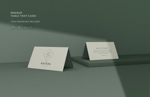 Maquette De Carte De Tente De Table PSD Premium