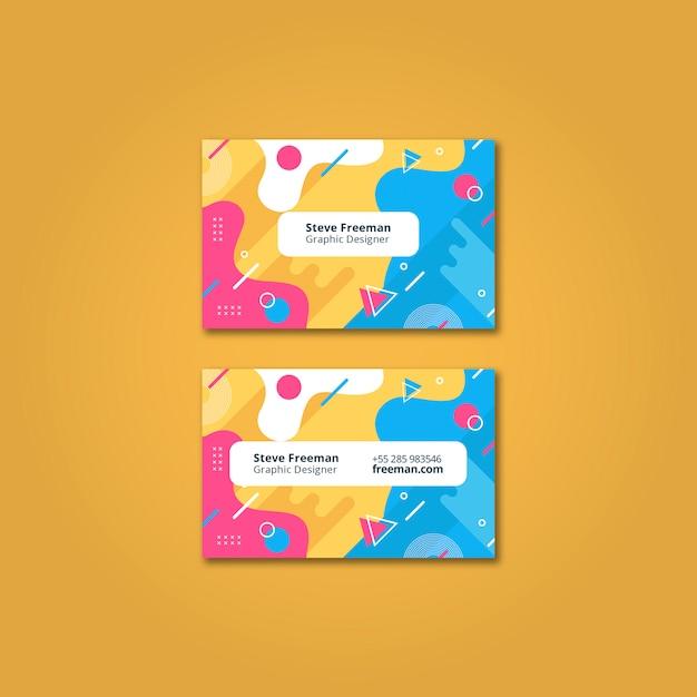 Maquette de carte de visite colorée Psd gratuit