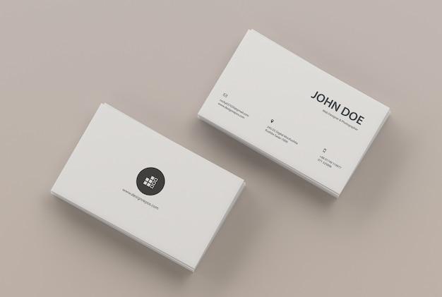 Maquette de carte de visite de deux piles PSD Premium