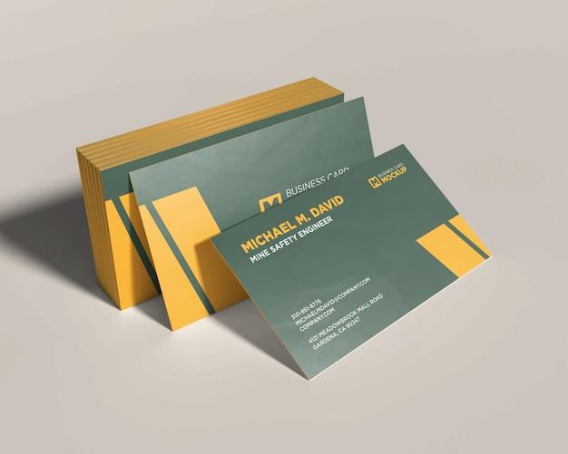 Maquette De Carte De Visite Empilée PSD Premium