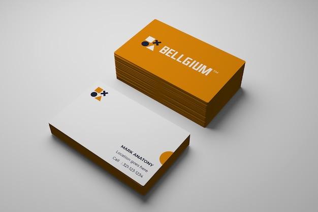 Maquette De Carte De Visite Minimale PSD Premium