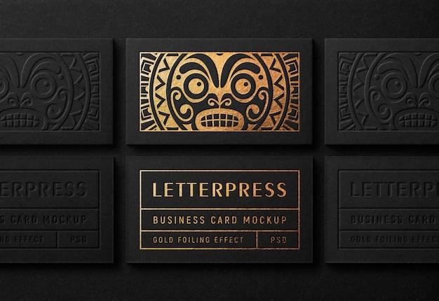 Maquette De Carte De Visite Moderne Avec Effet Typographique Doré PSD Premium