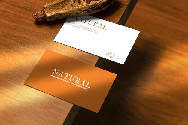 Maquette De Carte De Visite Naturelle PSD Premium
