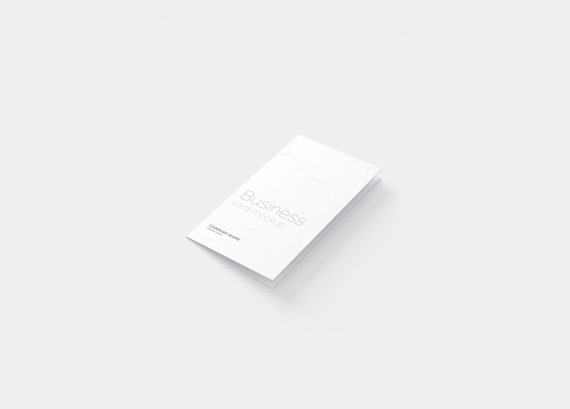 Maquette de carte de visite pliée PSD Premium