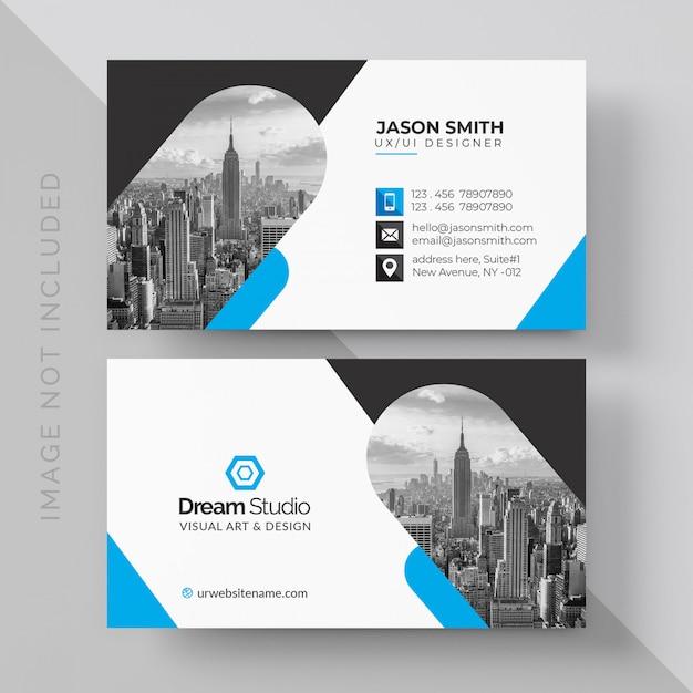 Maquette de carte de visite professionnelle PSD Premium