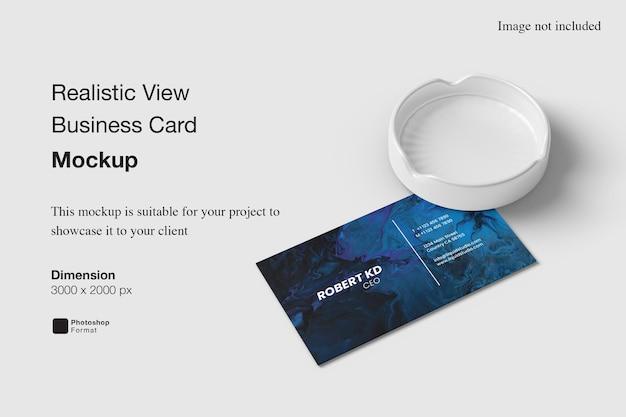 Maquette De Carte De Visite De Vue Réaliste PSD Premium