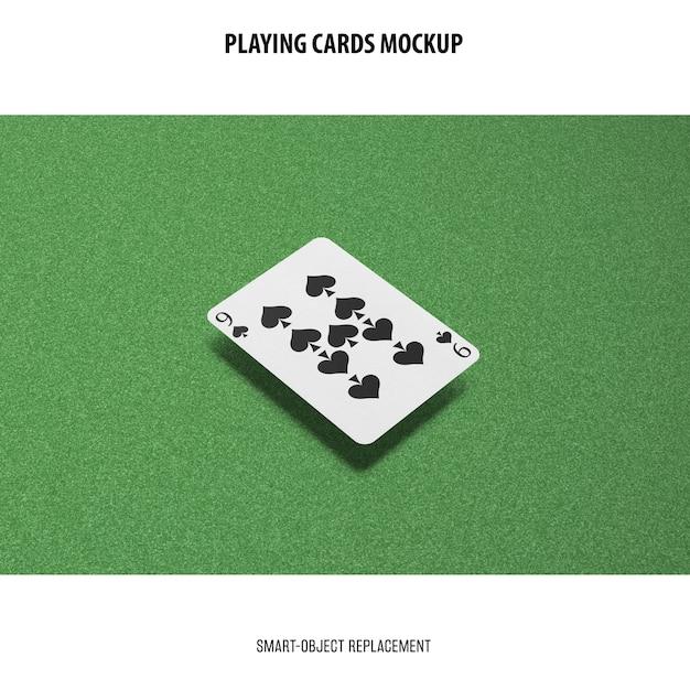 Maquette De Cartes à Jouer Psd gratuit