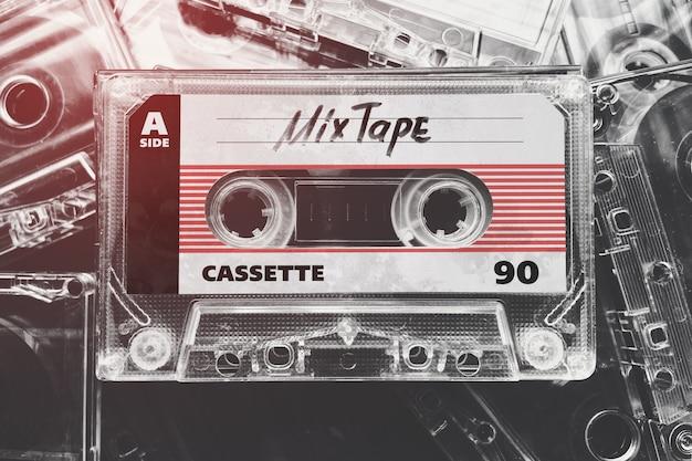 Maquette De Cassette De Bande Rétro PSD Premium