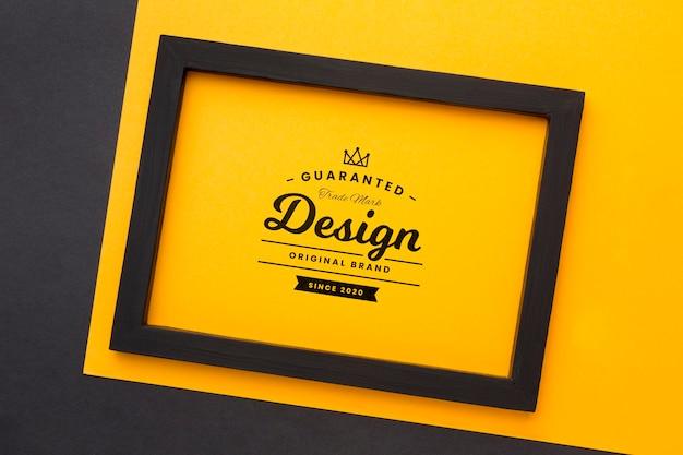 Maquette De Concept De Cadre Magnifique PSD Premium