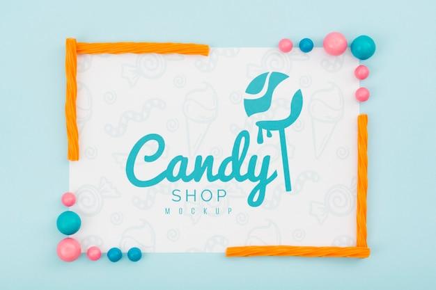 Maquette De Concept De Délicieux Bonbons Psd gratuit
