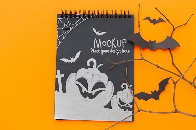 Maquette De Concept Halloween Effrayant Psd gratuit